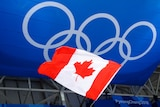 Canadian flag at the Winter Olympics