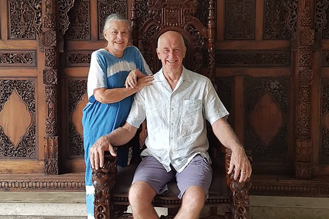 Canberra man Neil O'Riordan with his wife Penelope Blume