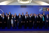 NATO leaders standing together