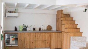 Tiny apartment kitchen