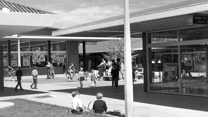 Early Curtin residents had to wait several years to get their own group shopping centre with a supermarket.