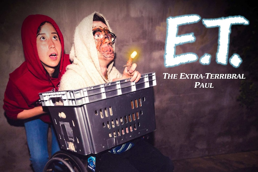 Nina Oyama, Angus Thompson dressed up as characters from E.T.
