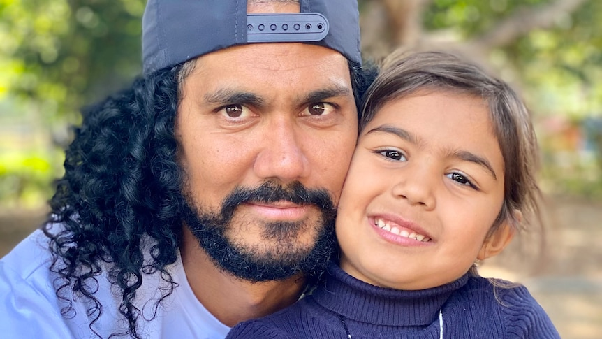 Portrait of Nathan Appo with his niece
