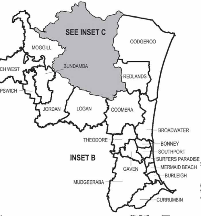 Ipswich and Gold Coast electorates