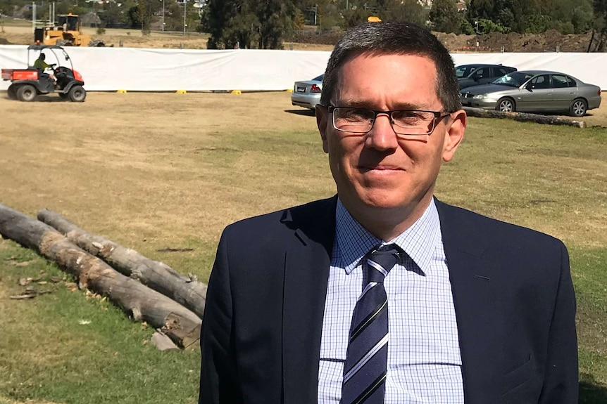 Andrew Dreghorn oversees cemetries for Invocare in Qld