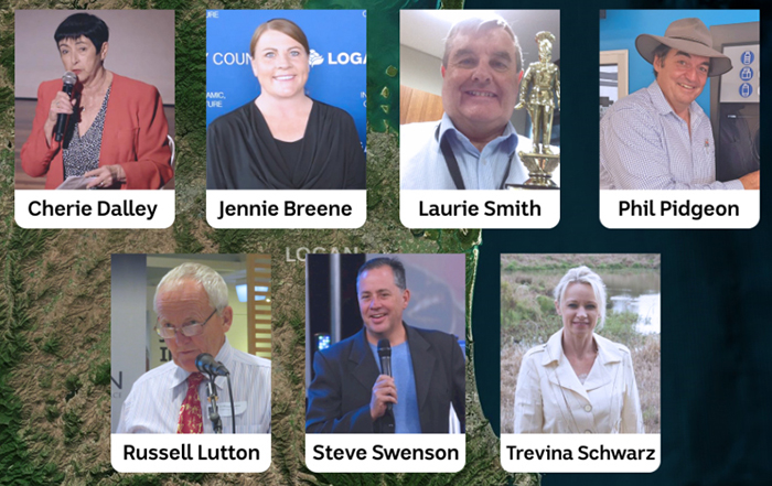 Cherie Dalley, Jennie Breene, Laurie Smith, Phil Pidgeon, Russell Lutton, Steve Swenson and Trevina Schwarz.