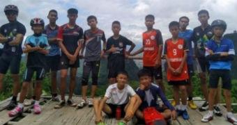 A group of Thai boys on a mountain