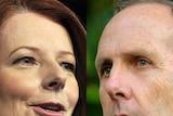 LtoR Prime Minister Julia Gillard and Greens leader Bob Brown
