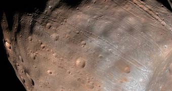 Close-up of Phobos