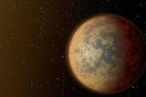 An artist's rendition of a planet orbiting star HD219134