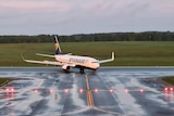 Ryanair plane on the tarmac after diversion to Minsk
