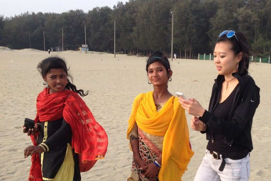 Photography training is provided to girls in Bangladesh.