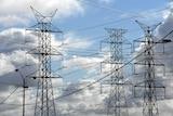 Big industrial power lines