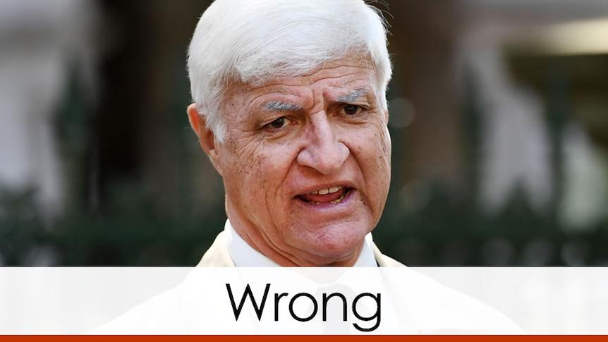 Bob Katter red bar verdict wrong
