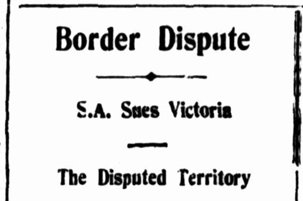 The headline of an article from The Evening Mail newspaper from July 31, 1909.