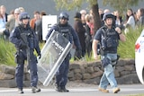 Critical incident response team at prison riot