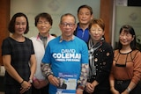 Several volunteers campaigning for the Liberal Party's candidate for the seat of Banks, David Coleman, pose for a photo.