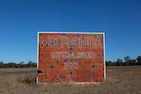 Woorabinda town sign