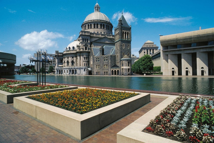 First Church of Christ, Scientist, also known as The Mother Church, in Boston, Massachusetts.