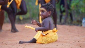 Garma opening ceremony dancing baby