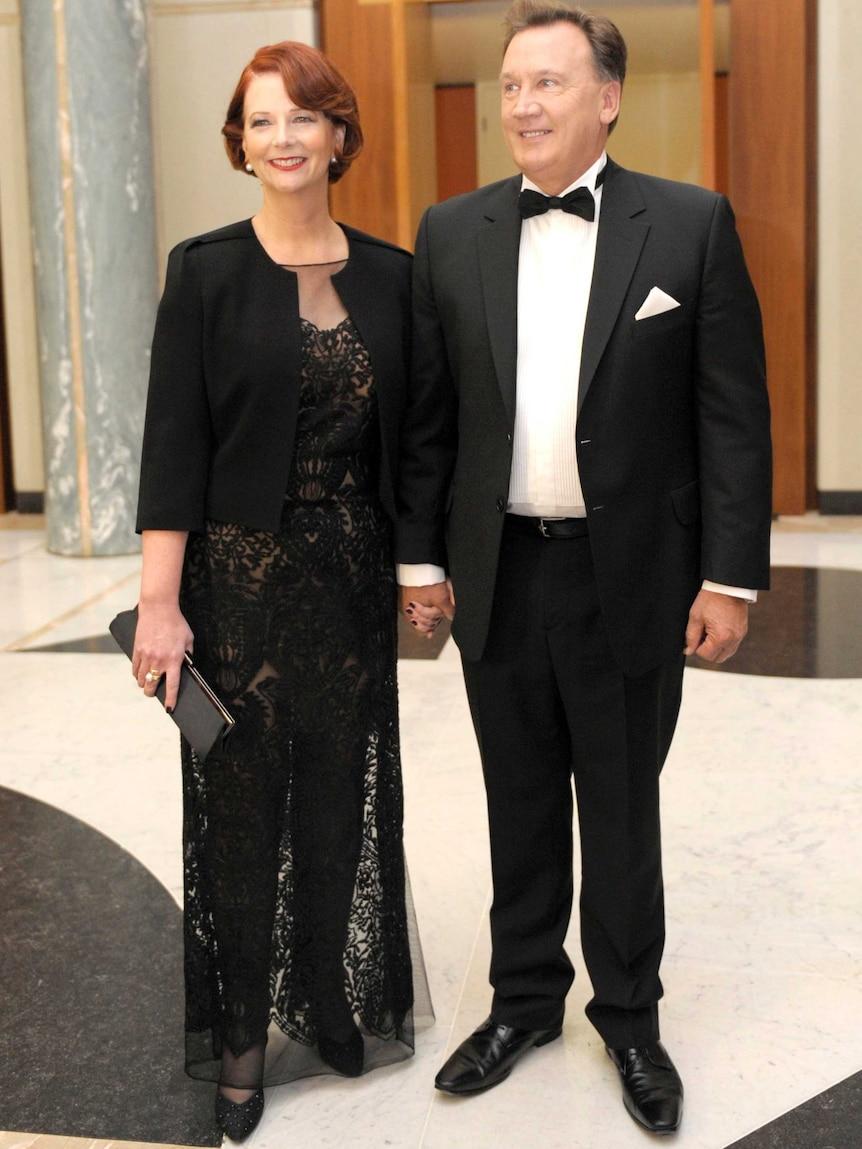 Julia Gillard and Tim Mathieson at the Midwinter Ball.