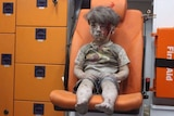 Omran Daqneesh after being rescued in Aleppo