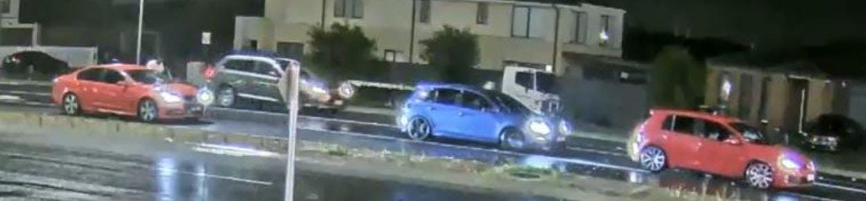 Three cars on CCTV.
