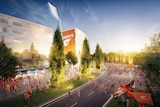 An artist's impression of the redevelopment of Manuka Oval.