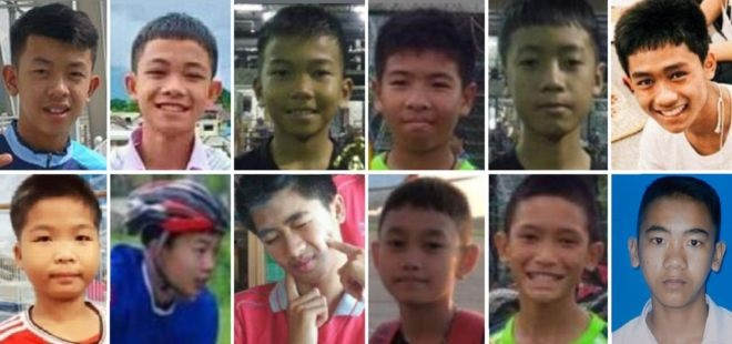 Collage of 12 boys.