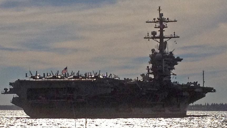 USS Carl Vinson crew warned about online security as air strikes continue