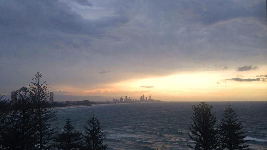 A storm over Burleigh Heads on the Gold Coast, November 6, 2014