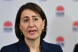 NSW Premier Gladys Berejiklian speaks at a press conference