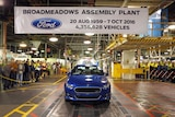 The final car rolls off the production line at Ford in Broadmeadows 7 October 2016