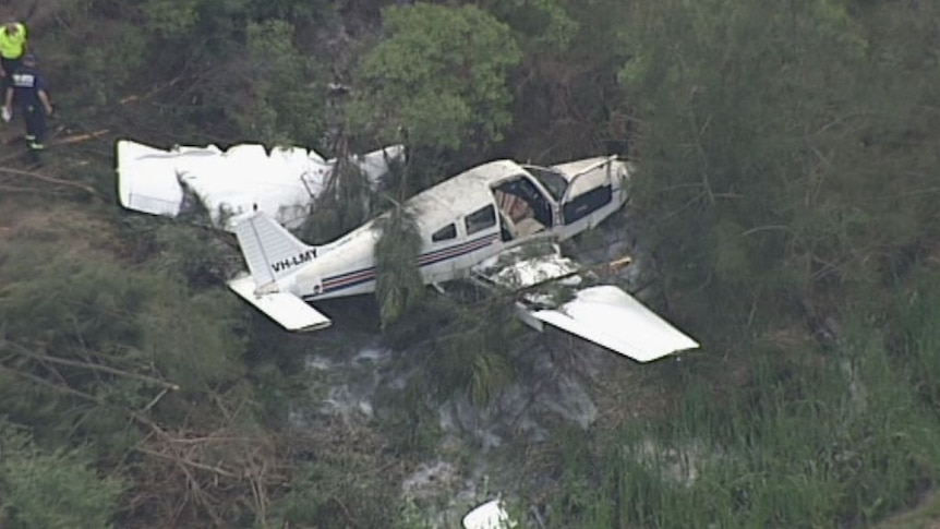 The pilot had a sore neck and sustained cuts and scratches making her way to safety.