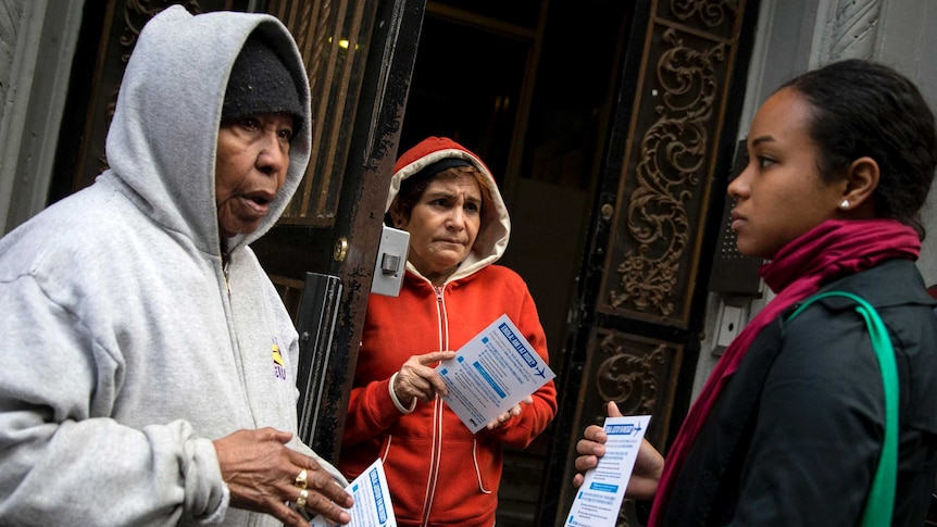 New York health worker and Harlem residents