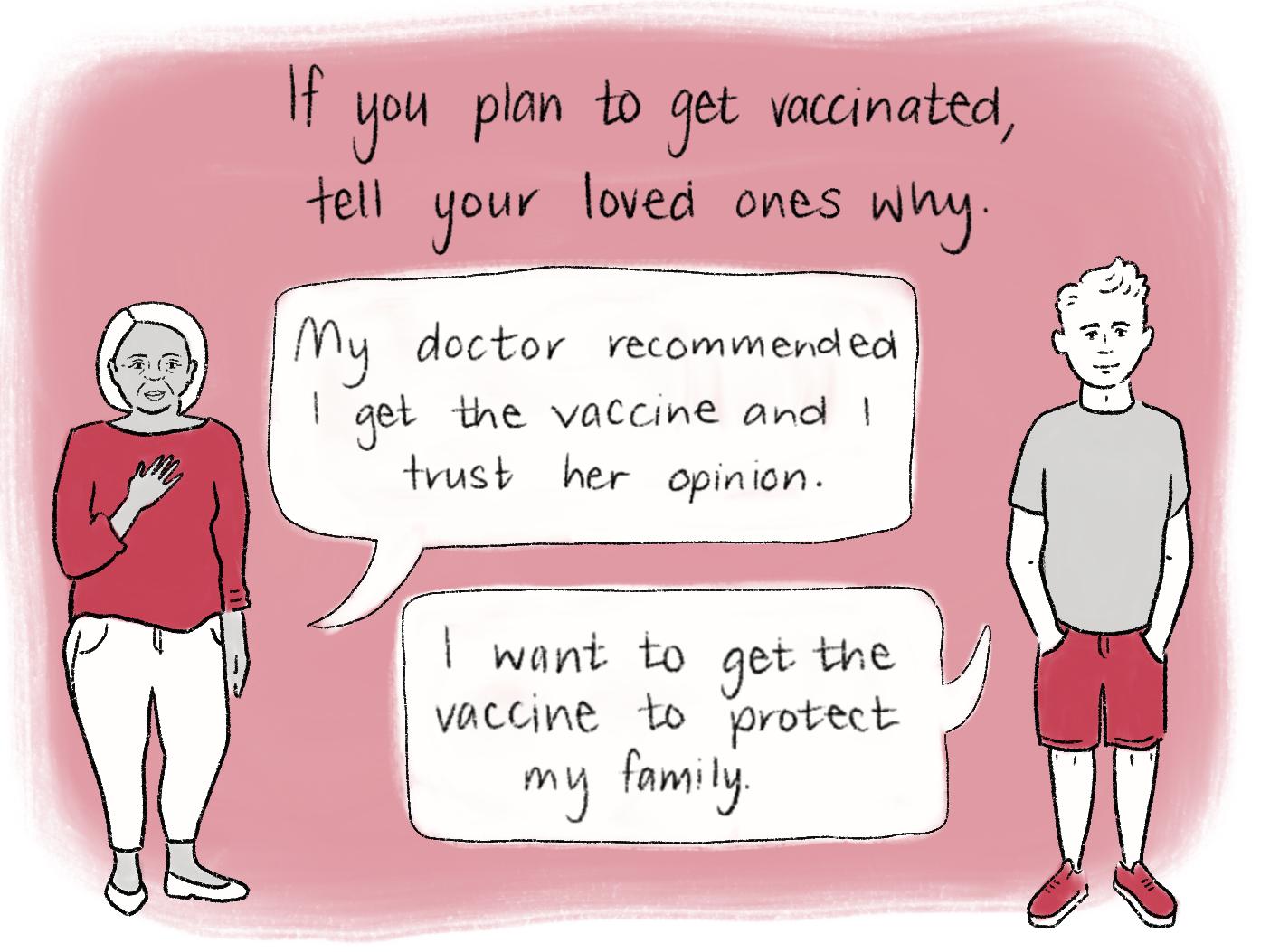 Vaccination comic scene 23. Read the transcript below.