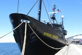 The Sea Shepherd Conservation Society ship, the Steve Irwin, refuels in Hobart