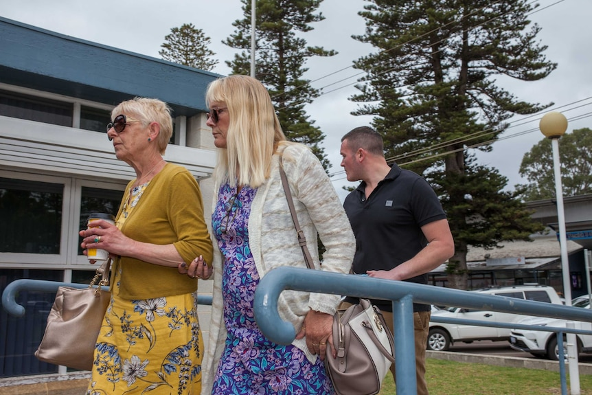 The family of Tom Butcher, who died in the 2015 Esperance bushfires, enter court.