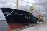 The 95-metre long  factory trawler Geelong Star