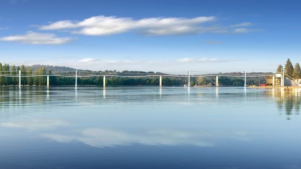 Concept design of the proposed Immigration Bridge across Lake Burley Griffin