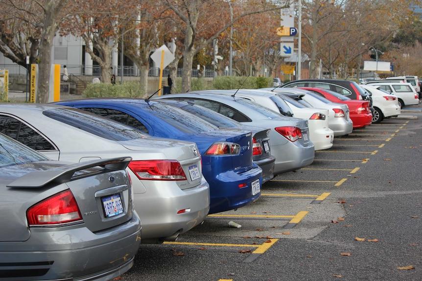 A full car park in Perth CBD