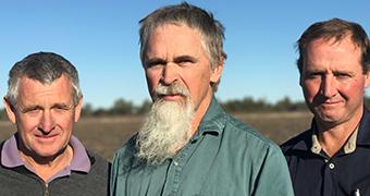 Farmers Brett Kelly, Wayne Saal and Jason Mundt