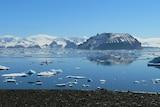 Photo shows James Ross Island in Antarctica.
