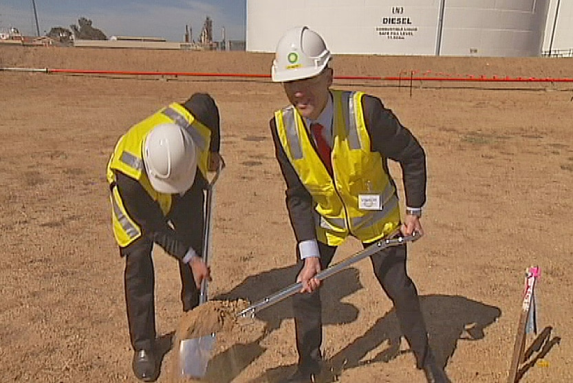 Minister and BP marked the start of site work