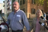 Greg and Annabel Digance leave the Adelaide Magistrates Court