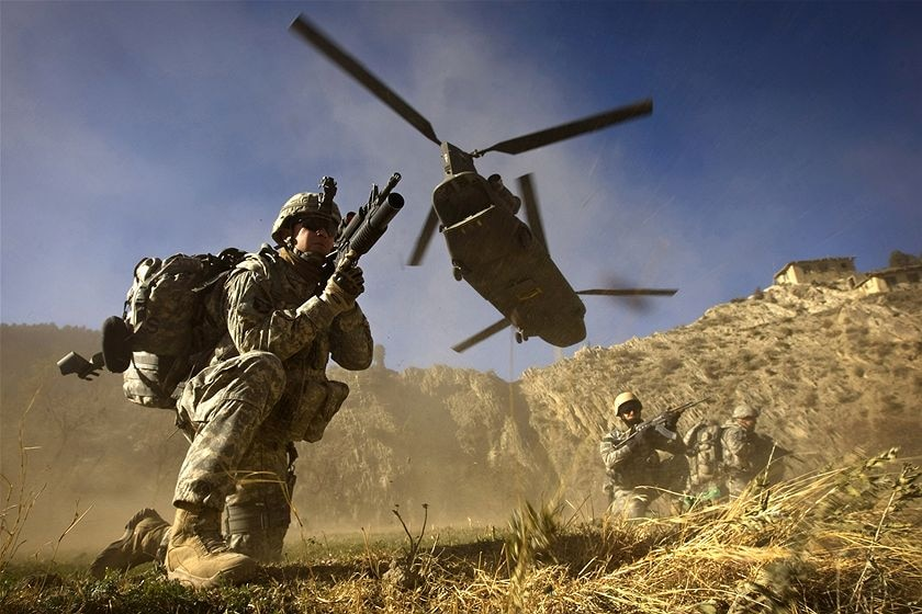 US soldiers in Khost province, Afghanistan