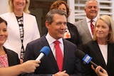 Labor NT Chief Minister Michael Gunner and his cabinet at their swearing-in