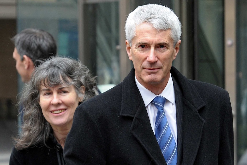 Anthony Foster stands with his wife Christine in Melbourne.