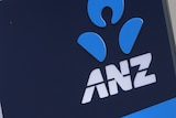 The logo of the Australia and New Zealand Banking Group Ltd (ANZ) is displayed outside a bank branch in Sydney