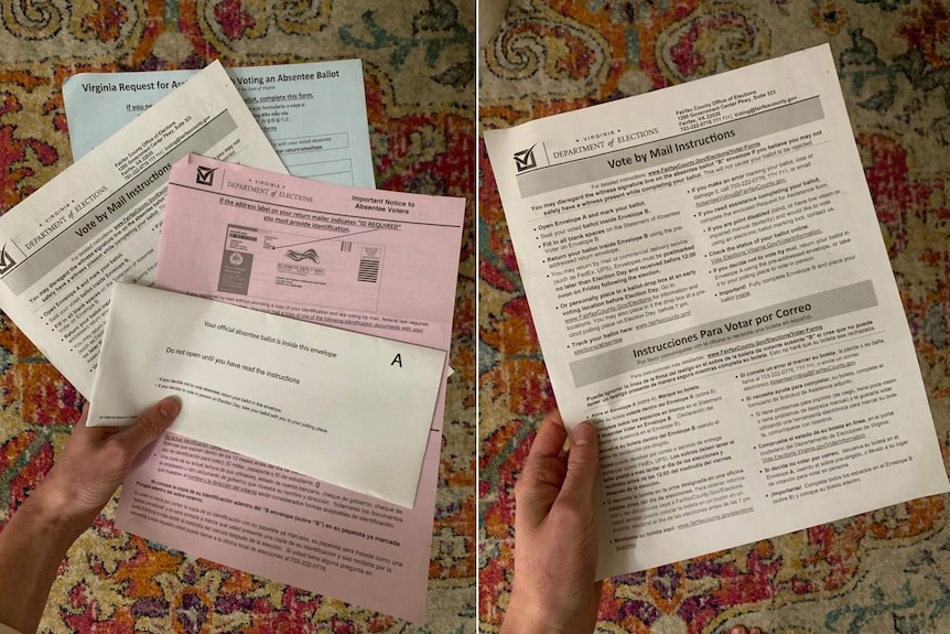 Two photos of paperwork